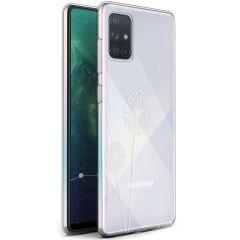 iMoshion Design Hülle Samsung Galaxy A71 - Pusteblume - Weiß