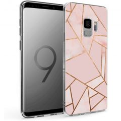iMoshion Design Hülle Samsung Galaxy S9 - Grafik-Kupfer - Rosa / Gold
