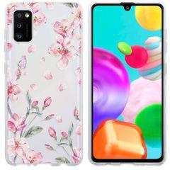 iMoshion Design Hülle Samsung Galaxy A41 - Blume - Rosa