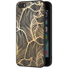 iMoshion Design Hülle iPhone 5 / 5s / SE - Blätter - Gold / Schwarz