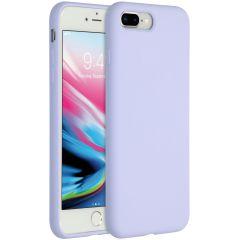Accezz Liquid Silikoncase iPhone 8 Plus / 7 Plus - Lila