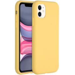 Accezz Liquid Silikoncase für das iPhone 11 - Gelb