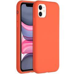 Accezz Liquid Silikoncase für das iPhone 11 - Nectarine