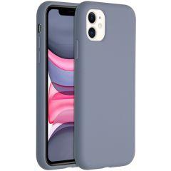 Accezz Liquid Silikoncase für das iPhone 11 - Lavender Gray