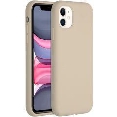 Accezz Liquid Silikoncase für das iPhone 11 - Stone
