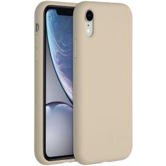 Accezz Liquid Silikoncase für das iPhone Xr - Stone