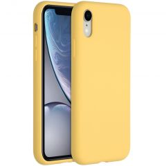 Accezz Liquid Silikoncase für das iPhone Xr - Gelb
