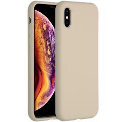 Accezz Liquid Silikoncase für das iPhone Xs / X - Stone