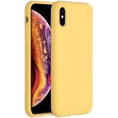Accezz Liquid Silikoncase für das iPhone Xs / X - Gelb
