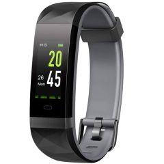 Lintelek Fitness Activity Tracker - Schwarz / Grau
