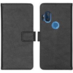 iMoshion Luxuriöse Buchtyp-Hülle Motorola One Hyper - Schwarz