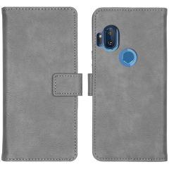 iMoshion Luxuriöse Buchtyp-Hülle Motorola One Hyper - Grau