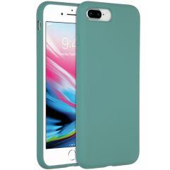 Accezz Liquid Silikoncase iPhone 8 Plus / 7 Plus - Dunkelgrün