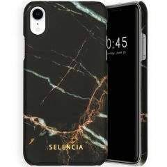 Selencia Maya Fashion Backcover iPhone Xr - Marble Black