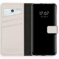 Selencia Echtleder Booktype Hellgrau Huawei P Smart (2020)