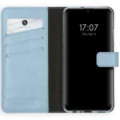 Selencia Echtleder Booktype Hellblau Huawei P Smart (2020)