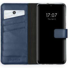 Selencia Echtleder Booktype Blau Huawei P Smart (2020)