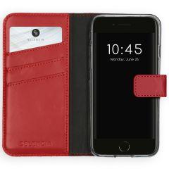 Selencia Echtleder Booktype Hülle Rot iPhone SE (2020) / 8 / 7 / 6(s)