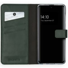 Selencia Echtleder Booktype Hülle Grün für das Samsung Galaxy A51