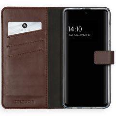 Selencia Echtleder Booktype Hülle Braun für das Samsung Galaxy A51