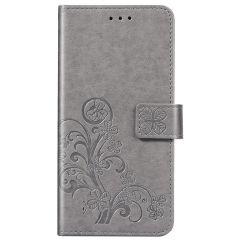 Kleeblumen Booktype Hülle Samsung Galaxy A31 - Grau