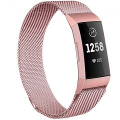 iMoshion Milanese Watch Armband Fitbit Charge 3 / 4 - Rose Gold