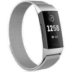iMoshion Milanese Watch Armband Fitbit Charge 3 / 4 - Silber