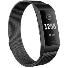 iMoshion Milanese Watch Armband Fitbit Charge 3 / 4 - Schwarz