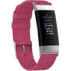 iMoshion Nylon-Armband Fitbit Charge 3 / 4 - Rosa