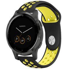 iMoshion Silikonband Sport Garmin Vivoactive 4L - Schwarz / Gelb