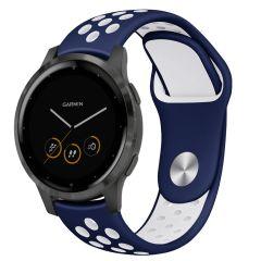 iMoshion Silikonband Sport Garmin Vivoactive 4L - Blau / Weiß