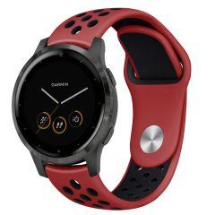 iMoshion Silikonband Sport Garmin Vivoactive 4L - Rot / Schwarz