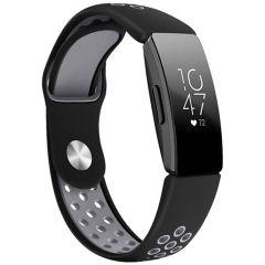 iMoshion Silikonband Sport Fitbit Inspire - Schwarz / Grau