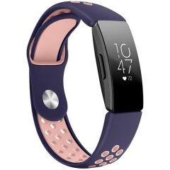 iMoshion Silikonband Sport Fitbit Inspire - Blau / Rosa