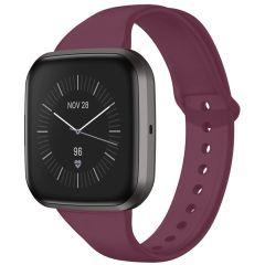 iMoshion Silikonband für die Fitbit Versa 2 / Versa Lite - Dunkelrot