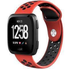 iMoshion Silikonband Sport Fitbit Versa 2 / Lite - Rot / Schwarz
