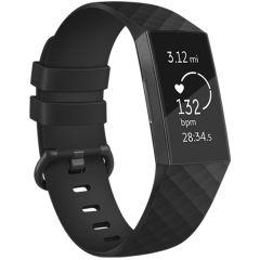 iMoshion Silikonband für die Fitbit Charge 3 / 4 - Schwarz