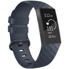 iMoshion Silikonband für die Fitbit Charge 3 / 4 - Dunkelblau