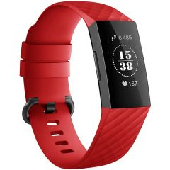 iMoshion Silikonband für die Fitbit Charge 3 / 4 - Rot