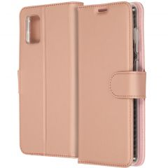 Accezz Wallet TPU Booklet für das Samsung Galaxy A31 - Roségold