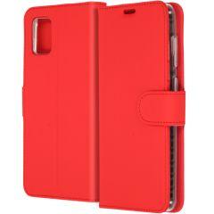 Accezz Wallet TPU Booklet für das Samsung Galaxy A31 - Rot