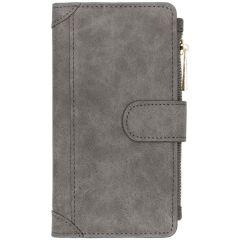 Luxuriöse Portemonnaie-Hülle Grau Samsung Galaxy A40