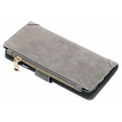 Luxuriöse Portemonnaie-Hülle Grau für das iPhone Xr