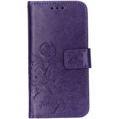 Kleeblumen Booktype Hülle Violett für das Samsung Galaxy A40