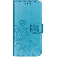 Kleeblumen Booktype Hülle Türkis für das Samsung Galaxy A40
