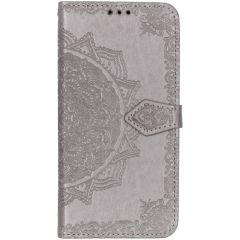 Mandala Booktype-Hülle Grau Samsung Galaxy A50 / A30s
