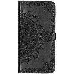 Mandala Booktype-Hülle Schwarz Samsung Galaxy A50 / A30s