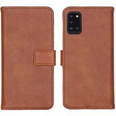 iMoshion Luxuriöse Buchtyp-Hülle Samsung Galaxy A31 - Braun