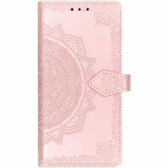 Mandala Booktype-Hülle Rosa für das iPhone Xr