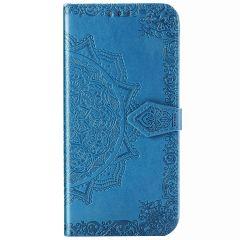 Mandala Booktype-Hülle Türkis für das Samsung Galaxy S20
